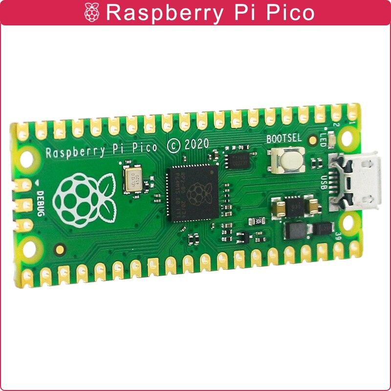 Oficial raspberry pi pico placa rp2040 duplo-núcleo 264kb braço microcomputadores de baixa potência de alto desempenho Cortex-M0 + processador