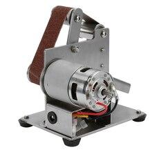 Multifunctional Grinder Mini Electric Belt Sander DIY Polishing Grinding Machine Cutter Edges Sharpener Optional Type