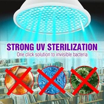 Ultraviolet Sterilizer Lamp 25W 35W 50W LED UV Germicidal Lamp E27 UVC LED Light Bulb 220V Amuchina LED Disinfection Light 110V e27 led light bulbs uv lamp light disinfection eliminator lamp ultraviolet light jdh99