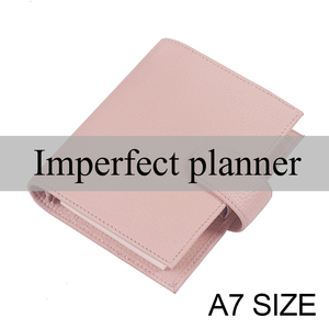 Image 1 - Limited Imperfect Genuine Leather Rings Notebook A7 Size Binder Agenda Litchi Grain Organizer Diary Journal Sketchbook Planner