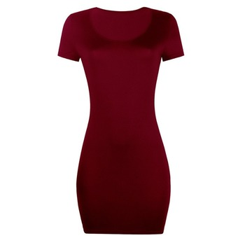 Sexy Dress for Club Above Knee Solid S-xxl Size Dress for Summer 4
