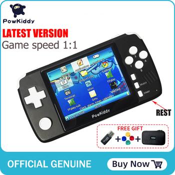 Powkiddy q80 Retro gra wideo konsola słuchawki 3 5 #8222 ekran IPS wbudowany 4000 gry otwarty System PS1 Simulator 48G pamięć nowe gry tanie i dobre opinie 3 25 Q80S