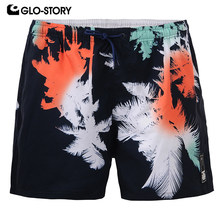GLO-STORY Men's 2020 Summer SwimShorts Men Elastic Waist Quick Dry Beach Board Shorts MTK-1749(China)