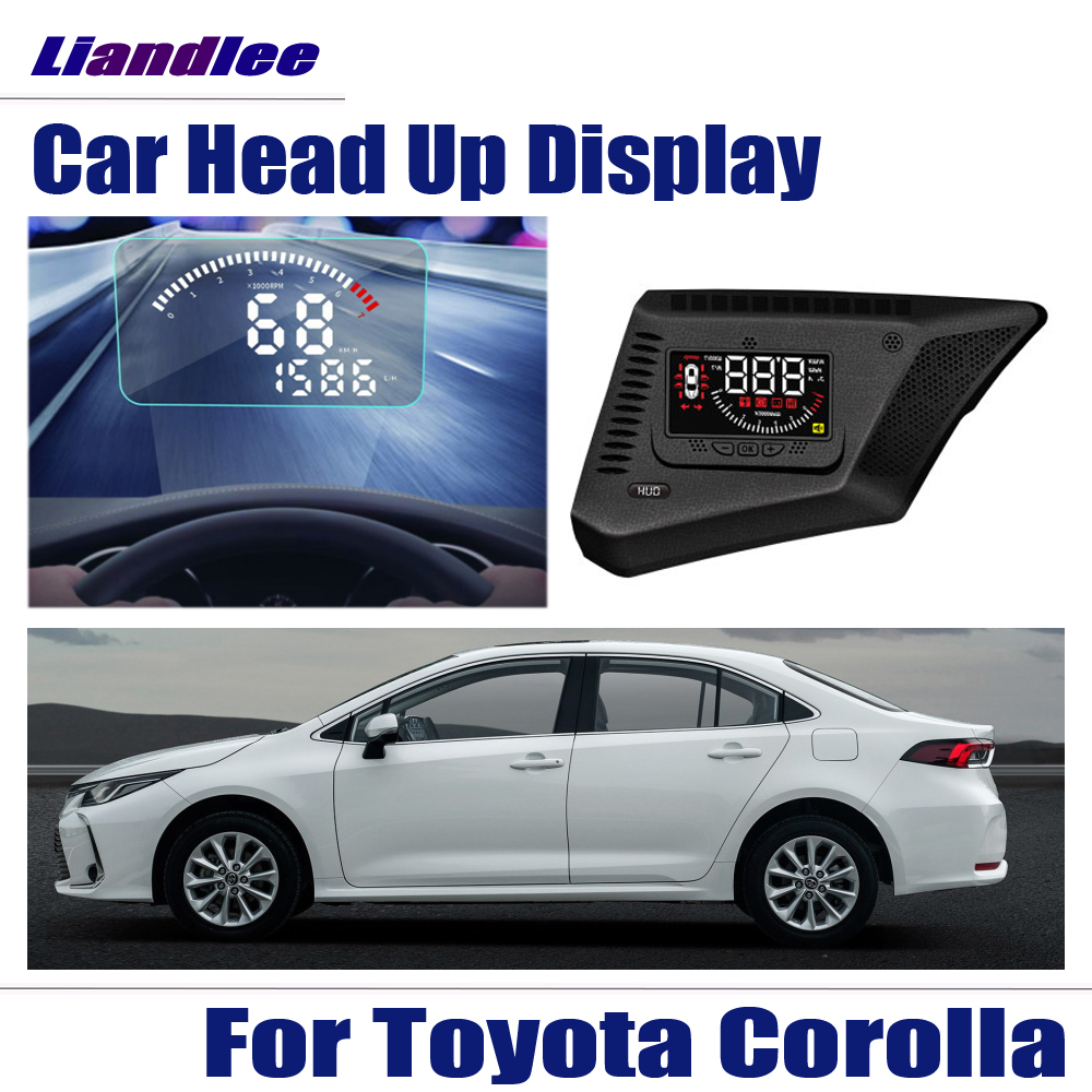 Full Function Car HUD Head Up Display For Toyota Corolla 2014-2017 2018 Safe Driving Screen OBD Speedometer Projector Windshield