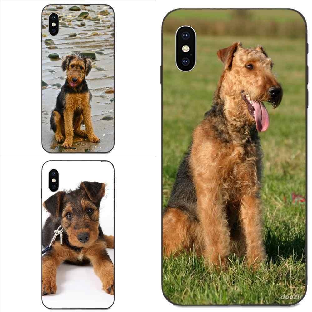 Belle Airedale Terrier Chien Pour Huawei nova 2 2S 3i 4 4e 5i Y3 Y5 II Y6 Y7 Y9 Lite Plus Prime Pro 2017 2018 2019