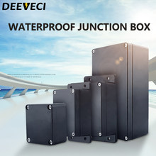 Black Outdoor Waterproof Enclosure Plastic Box Electronic Project Instrument Case Electrical Project Box Junction Box Housing