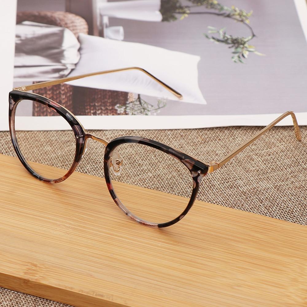 Hot 1Pcs Unisex Myopia Optical Glasses Eyeglasses Frames Women Trend Metal Spectacles Clear Lenses Men Glasses Frame Oculos