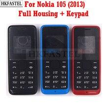HKFASTEL-carcasa de alta calidad para Nokia 105, funda de teléfono móvil completa, con teclado en Inglés/ruso, Año 2013