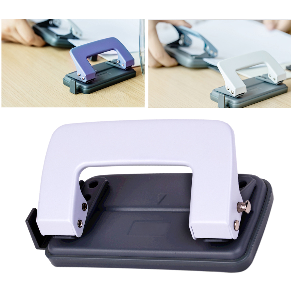 School DIY Office Planner Portable Stationery Ring Binder Craft 2 Hole Tool Professional Metal Paper Puncher Handheld