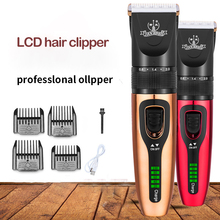 Professional Barber Shop LCD Hair Clipper Razor High Power Charging Beard Trimmer Children Pet Ceramic Electric Hair Clipper
