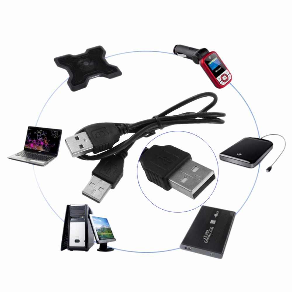 Cable adaptador de extensión, 1 unidad, negro, USB 2,0 macho a macho M/M, Cable adaptador, Cable nuevo