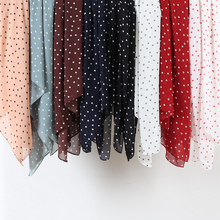Women printed floral bubble chiffon hijab scarf wraps soft long islam shawls muslim dots chiffon scarves hijabs