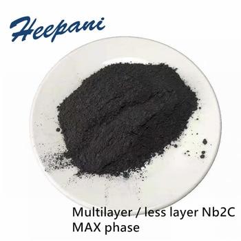 Free shipping MAX phase ceramic material powder Multilayer Nb2C less layer niobium carbide Mxene Nb2C powder for lab фото