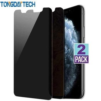 Tongdaytech 9H 2.5D de vidrio templado Protector de pantalla de privacidad Protector Anti-mirón película para Iphone X XS X XR 8 7 11 Pro Max