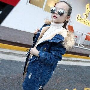 Image 4 - เสื้อสำหรับสาวDenimแจ็คเก็ตสาวยาวเด็กเสื้อขนสัตว์ฤดูใบไม้ร่วงวัยรุ่นเด็กชุดสำหรับหญิง
