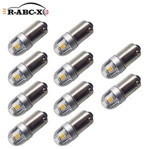 Image 1 - RUIANDSION 10X BA9S T4W 3030SMD רכב לוחית רישוי אור קריאת כיפת מנורת LED הנורה מכשיר ללא קוטב 6V 12V 200Lm 6000K 4300K