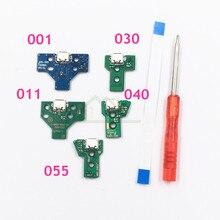 Dla Sony Playstation 4 PS4 Pro kontroler USB płytka ładująca gniazdo obwodu JDS 001 JDS 011 JDS 030 JDS 040 JDS 055 ze wstążką