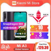 In Magazzino Globale Versione Xiao mi mi A3 mi A3 4GB 64GB DEL telefono Mobile Snapdragon 665 Octa Core 6.088 48MP + 32MP AI Fotocamera 4030mAh