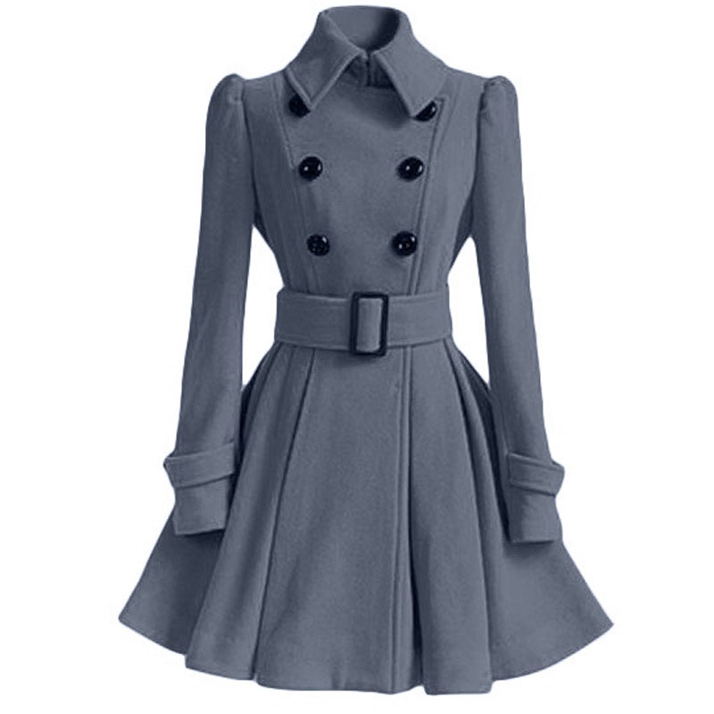 Autumn Winter Coat Women 2019 Fashion Vintage Slim Double Breasted Jackets Female Elegant Long Warm White Coat casaco feminino 63