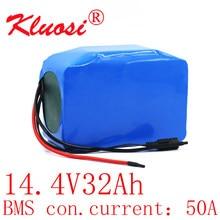 Kluosi 4s10p 16.8v 32ah para o bloco da bateria de lítio de lg18650mh1 14v com bms do equilíbrio 80a para o robô esperto/equipamento de alta potência