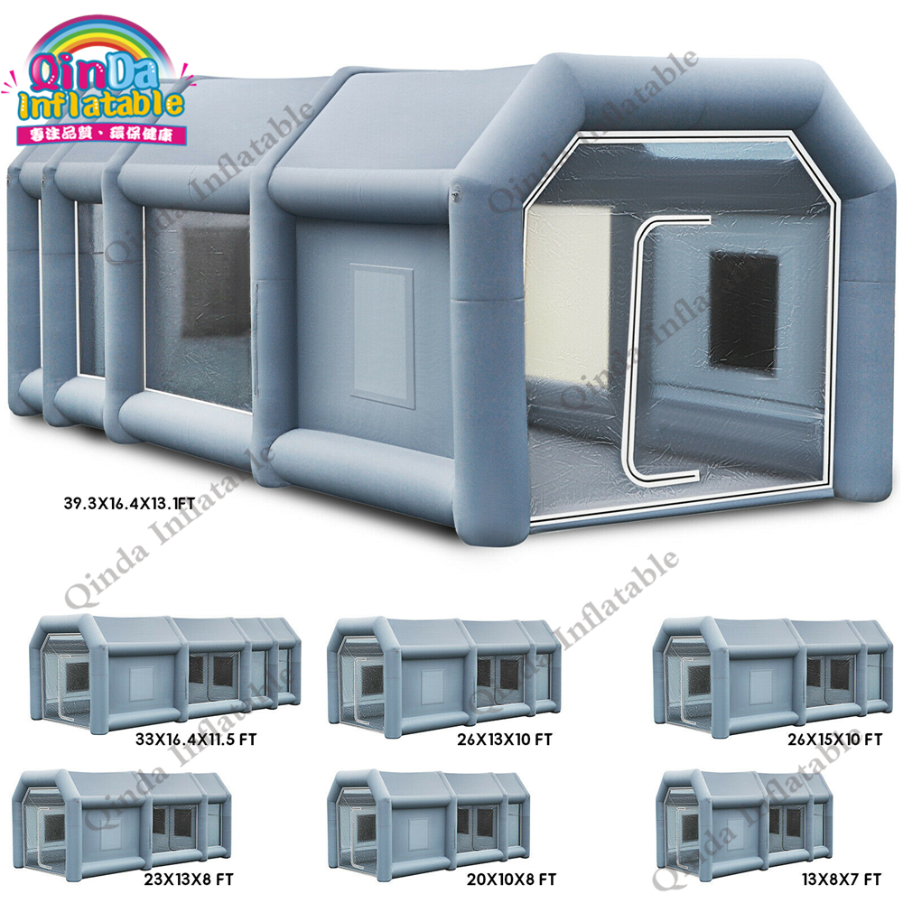 Free shipping custom made spray tent inflatable paint booth for car spraying