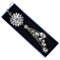 Car Auto Jewelry Crystal Flower Pendant Interior Rear View Mirror Ornament Hanging Dangle Charm Car Styling acccessories