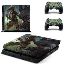 APEX Legends стиль наклейка кожи наклейка для PS4 Playstation 4 консоли пленка+ 2 шт. контроллеры Защитная крышка DPTM2460