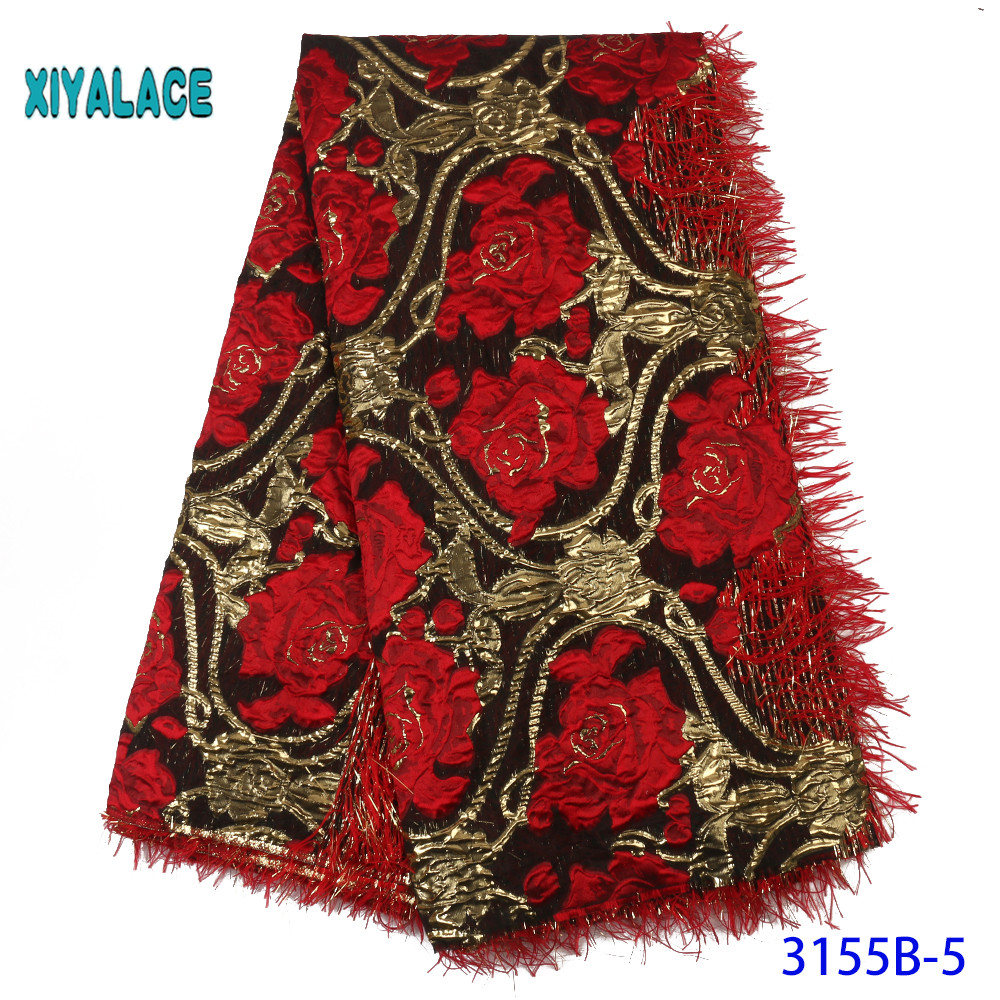 African Lace Fabric 2019 High Quality Lace French Lace Fabric Embroidery Fabric Nigerian Voile Suisse Lace Fabrics YA3155B-5