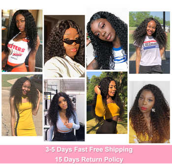 BEAUDIVA Remy Human Hair Bundles With Closure Kinky Curly Bundles With Closure Brazilian Curly Hair Products