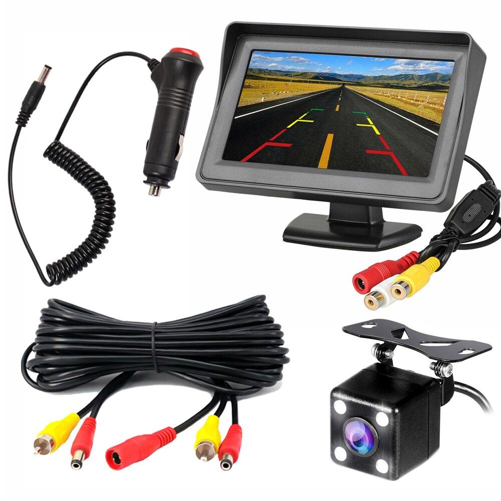 YuanTing Универсальная автомобильная камера заднего вида с углом обзора 170 градусов 8 авто светодиодный фонарь ночного видения водонепроницаемый для автомобиля - Название цвета: 4.3ZJ