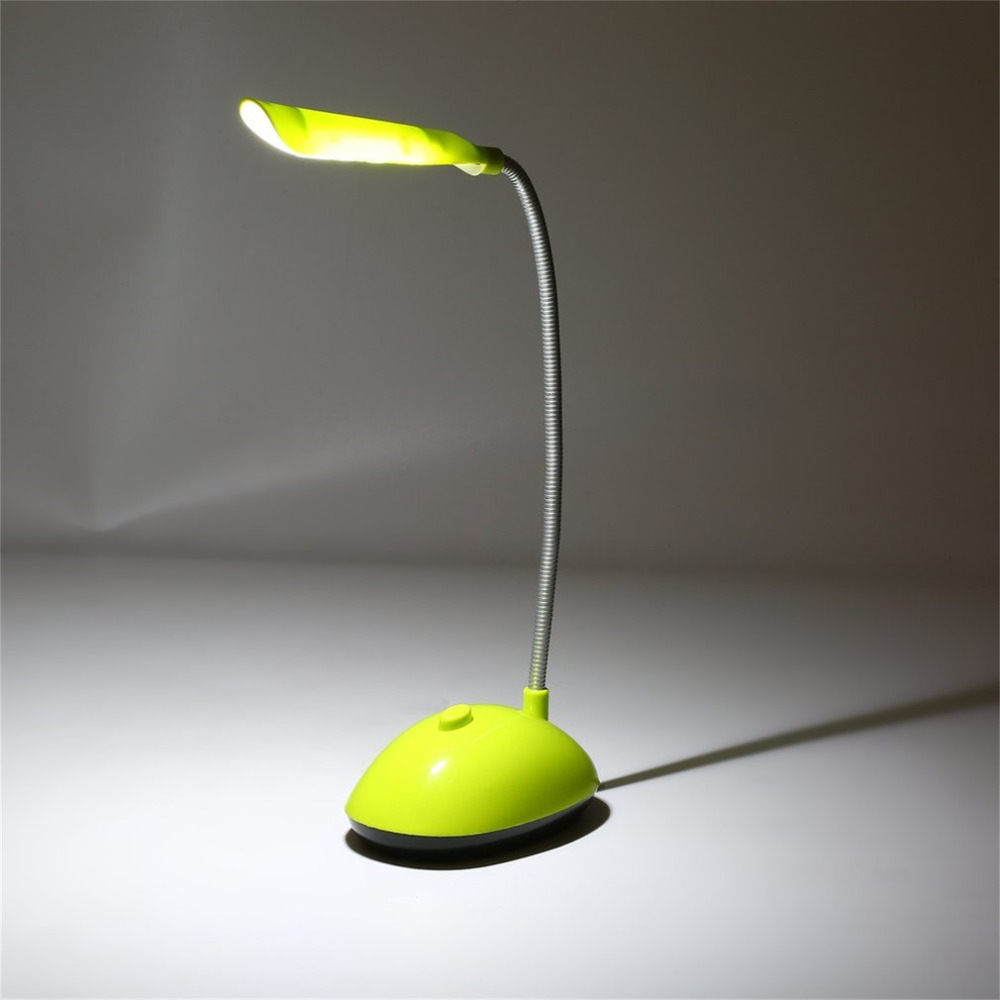 Fexiable LED Desk Light AAA Battery Operated Book Reading Lamp Green/ Blue PY-X7188