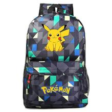 цена на Anime Pokemon Go Game Backpack canvas Pikachu Boys Girls Teenagers schoolbag Rucksack men women shoulder travel bag