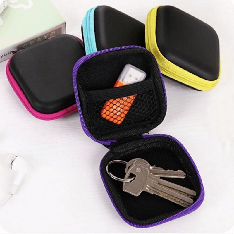 Сумка для хранения наушников EVA чехол для наушников контейнер для кабеля наушников USB держатель для хранения водонепроницаемые коробки Дом...