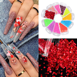 2g/Bag Sweet Love Heart Sequins For Nail Design Thin Paillettes AB Mixed Flakes Acrylic Glitter Nail Art Decorations Manicure