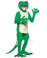 Green Chameleon Mascot Costume Suits Cosplay Party Game Dress Outfits Clothing Advertising Promotion Fursuit