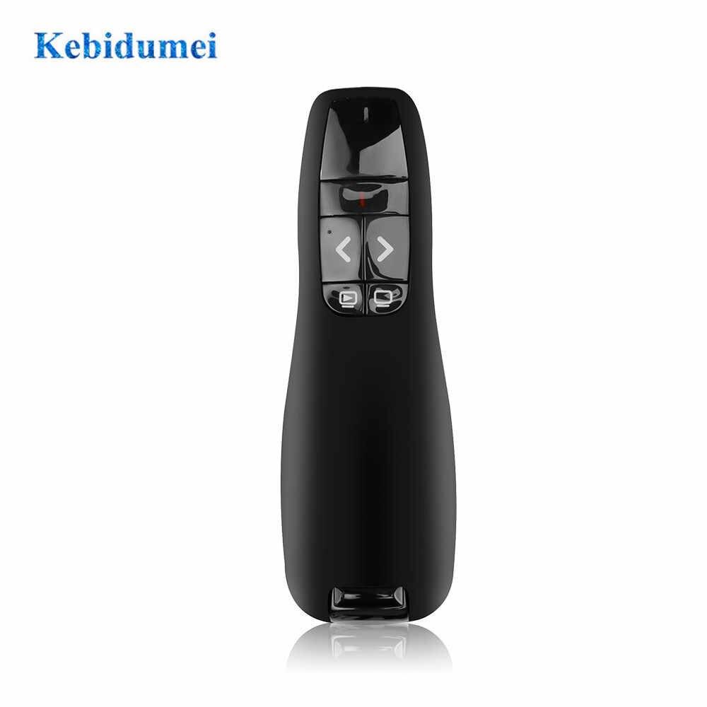 Kebidumei R400 USB беспроводной ведущий красная лазерная указка 2,4 ГГц PPT пульт дистанционного управления для презентаций Powerpoint новейшая
