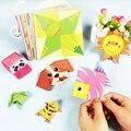 54 seiten Montessori Spielzeug DIY Kinder Handwerk Spielzeug 3D Cartoon Tier Origami Handwerk Papier Kunst Lernen Pädagogisches Spielzeug für Kinder