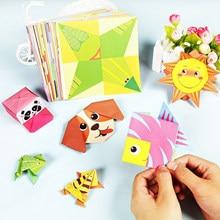 54 pages de papier Origami pour bricolage 3D éducatif pour enfant, jouet à faire soi-même d'art créatif, d'apprentissage et artisanat Montessori, avec dessin animé et animaux,