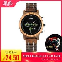 BOBO BIRD Top Luxury Brand Watch Women relogio feminino Date Display Wristwatches Clock Stop Functional saat V P18