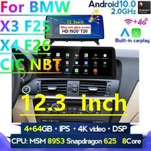 """Auto-Multimedia-Player für BMW X3 F25 X4 F26 CIC NBT System Android 10 Auto radio Steuergerät Navigation GPS 12.3 """"bildschirm IPS 4G LTE"""