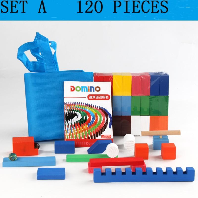 Детская игрушка для раннего обучения и повышения интеллекта домино Стандартный конкурс строительный блок механизм костная пластина - Цвет: SET A