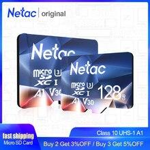 Netac-tarjeta de memoria Flash A1, 64GB, 32 GB, 16GB, Microsd, TF, Clase 10, UHS-1, 32 GB