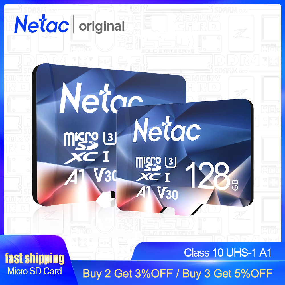 Netac P500 A1 Thẻ Nhớ 64GB 32 GB 16GB 100 MB/giây MicroSD TF/SD Thẻ Class10 UHS-1 đèn Flash Thẻ Nhớ 32 GB Bán title=