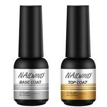 Nailwind base superior casaco conjunto para manicure gel unha polonês pintura da arte do prego precisa curar uv lâmpada led primer gel varnihses