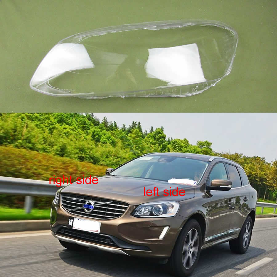 For Volvo XC60 2014 2015 2016 2017 2018 2019 Transparent Lampshade Headlamp Cover Glass Lamp Shade Headlight Shell Cover Lens