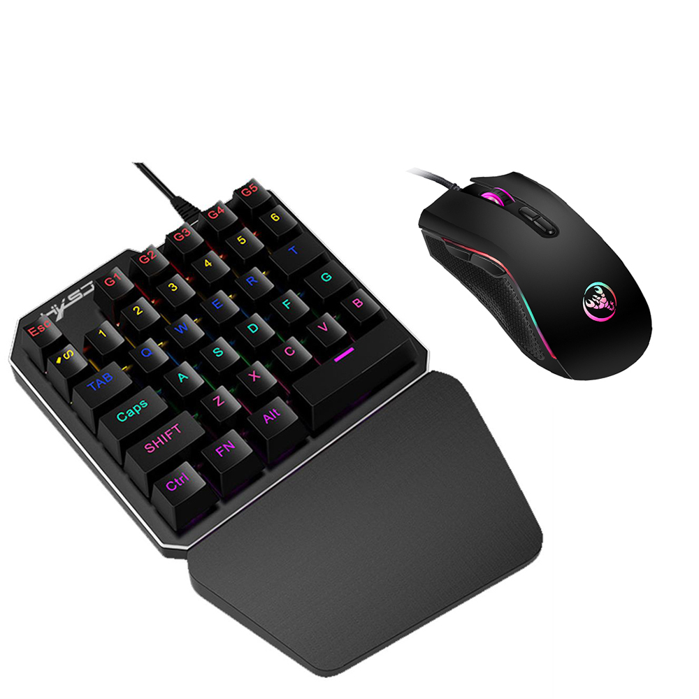Lightweight Smooth Wired Gaming Keyboard Kit With Mouse USB PC Gamer US Stock MY
