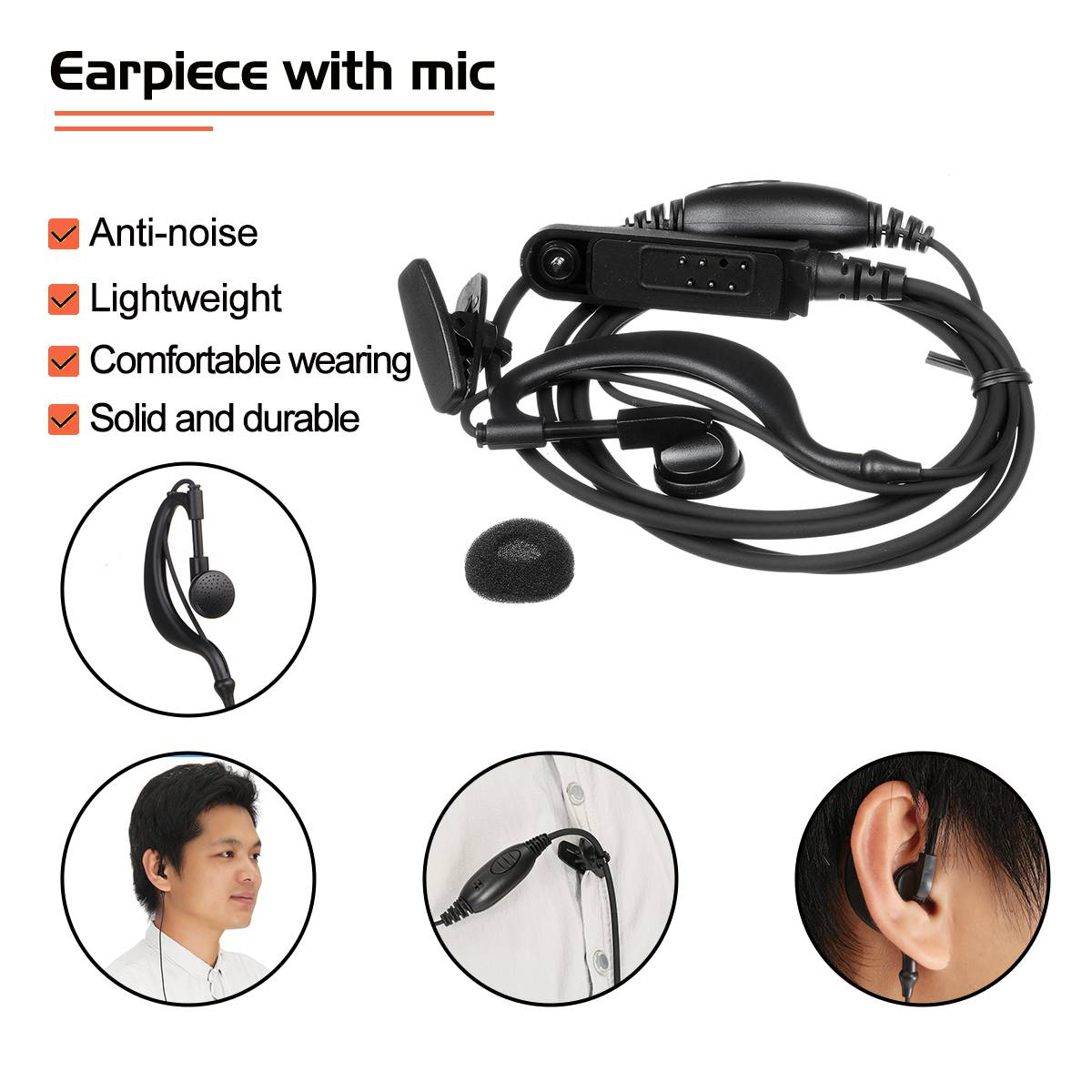 Baofeng UV9R-ERA Walkie Talkie Professional Parts Accessories Antenna Earpiece Screwdriver Car Charger Handstrap 4800Amh