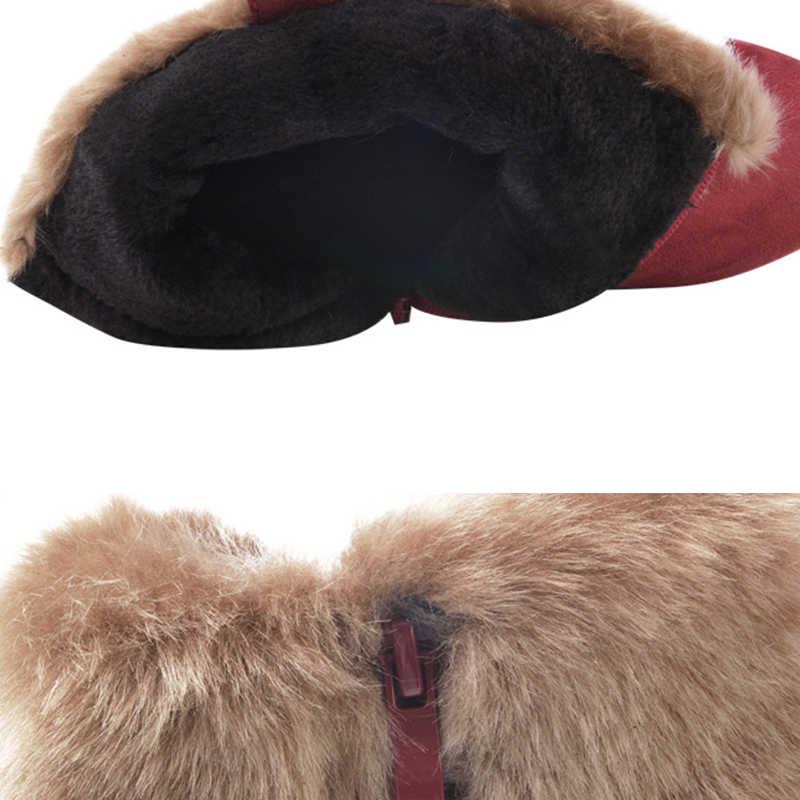 DORATASIA ฤดูหนาวใหม่ Warm Booties สุภาพสตรี non-slip ข้อเท้าหิมะรองเท้าผู้หญิงเข็มขัดหัวเข็มขัดรองเท้าส้นสูงหรูหรารองเท้าผู้หญิง