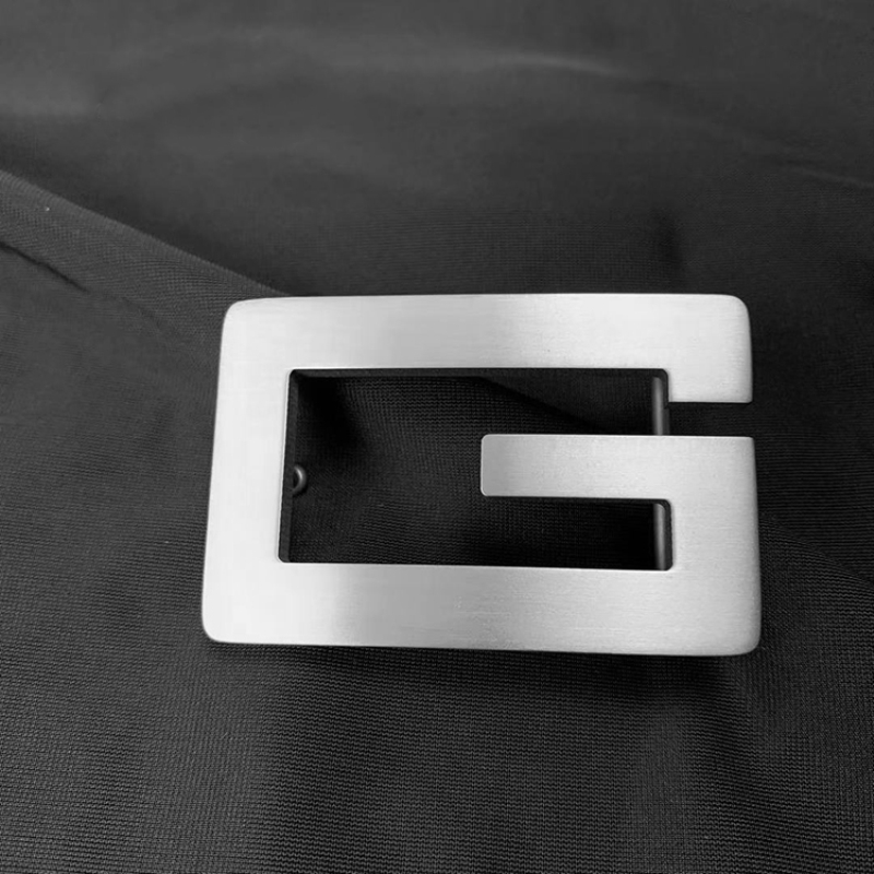 2020 Pure Titanium Titanium Alloy  Letter Belt Buckle Smooth Buckle Light Plate Buckle Anti-allergy Belt Buckle