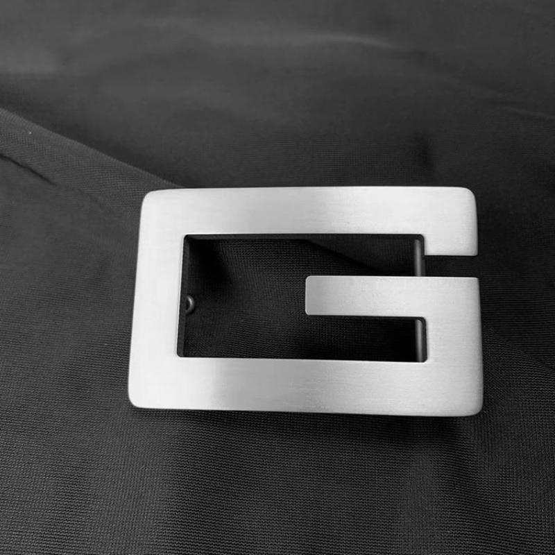 2020 Pure Titanium Titanium Alloy  Letter Belt Buckle Smooth Buckle Light Plate Buckle Anti-allergy Belt Buckle